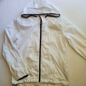 White Adidas wind breaker jacket